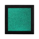 Brillo verde caja de joyas
