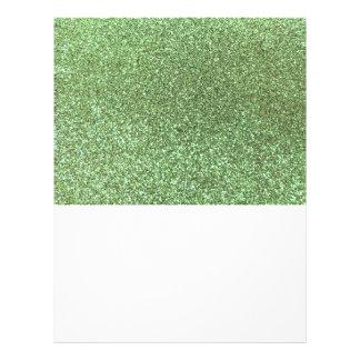 Brillo verde claro tarjeta publicitaria