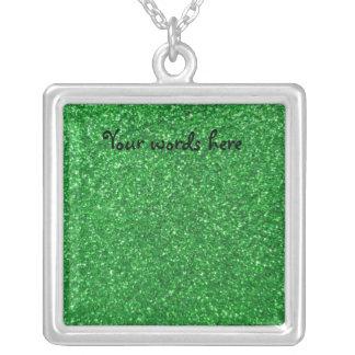 Brillo verde colgante cuadrado