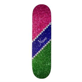 Brillo verde conocido personalizado de las rosas patineta personalizada