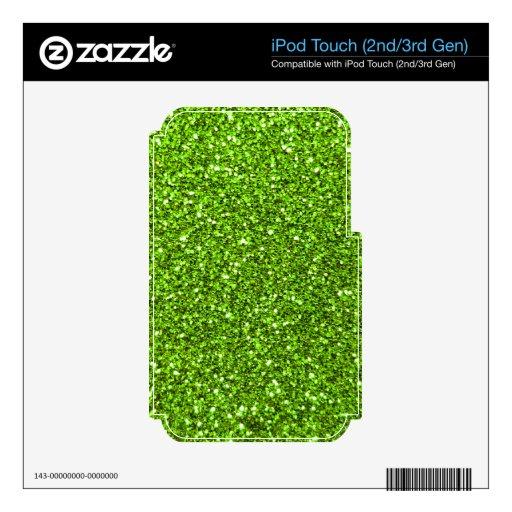 Brillo verde de neón iPod touch 2G skins