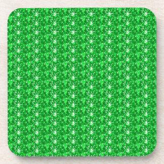 Brillo verde determinado del práctico de costa del posavasos de bebida