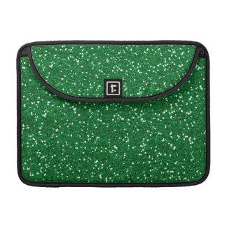 Brillo verde elegante fundas para macbook pro