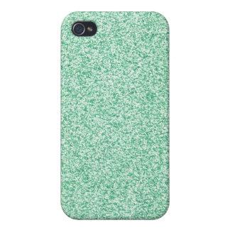 Brillo verde en colores pastel iPhone 4 fundas
