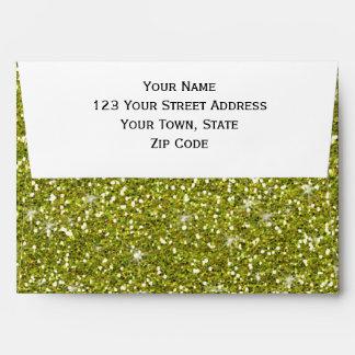Brillo verde impreso sobre