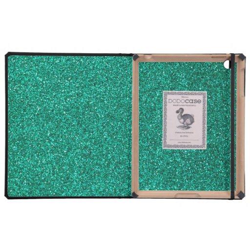 Brillo verde iPad carcasa