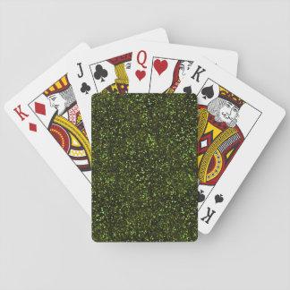 Brillo verde oscuro baraja de cartas
