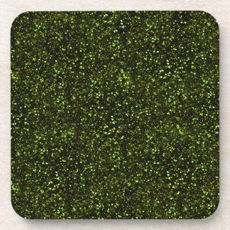 Brillo verde oscuro posavasos