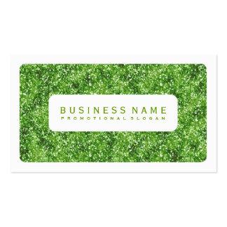 Brillo verde simple tarjetas de visita