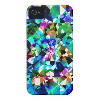 Brillo y chispas coloridos de los diamantes iPhone 4 cobertura