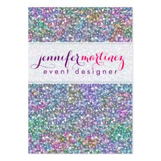 Brillo y chispas púrpuras coloridos elegantes 2 tarjeta de visita