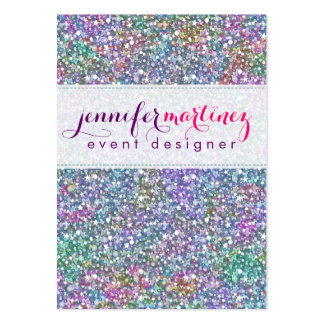 Brillo y chispas púrpuras coloridos elegantes 2 tarjetas de visita grandes