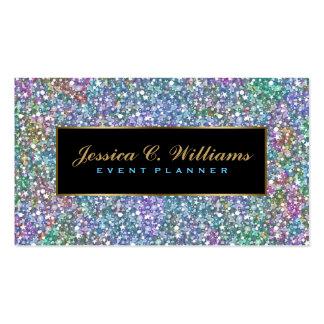 Brillo y chispas púrpuras coloridos elegantes 5 tarjetas de visita