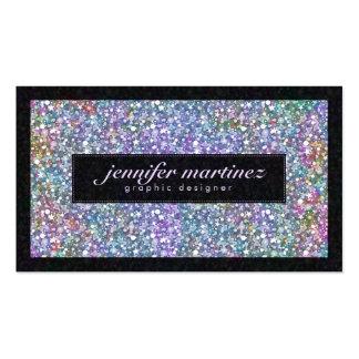Brillo y chispas púrpuras coloridos negros elegant plantillas de tarjetas de visita