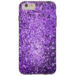 Brillo y chispas púrpuras elegantes funda de iPhone 6 plus tough