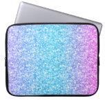 Brillo y chispas retros coloridos fundas computadoras