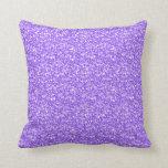 Brillo y chispas retros púrpuras elegantes almohadas