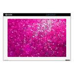 Brillo y chispas rosados elegantes portátil 43,2cm skins