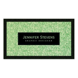 Brillo y chispas verdes claros elegantes tarjetas de visita