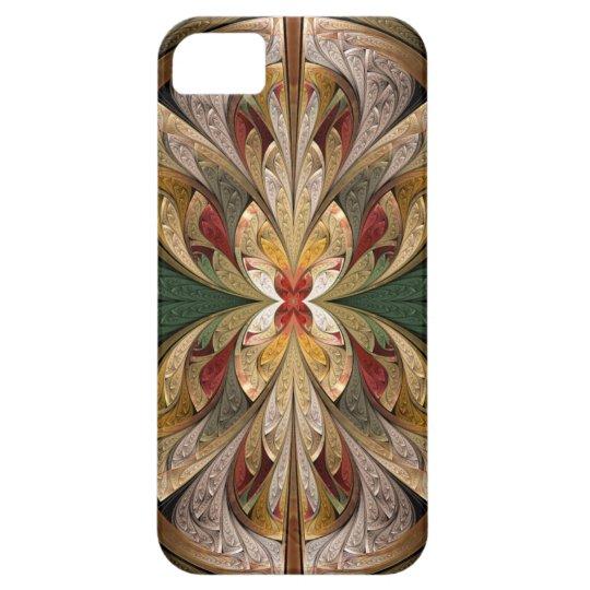 Brillo y vitral abstracto de la subida funda para iPhone SE/5/5s
