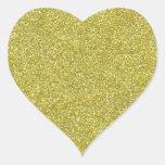 Brillos brillantes relucientes del oro pegatina corazón personalizadas