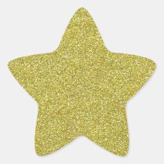 Brillos brillantes relucientes del oro pegatina en forma de estrella
