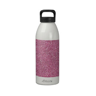 Brillos brillantes relucientes del rosa botella de agua reutilizable