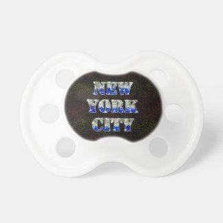 Brillos de plata del azul de New York City Chupetes Para Bebes