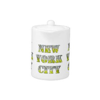 Brillos de plata del oro de New York City