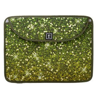 Brillos verde oscuro brillantes del oro funda macbook pro