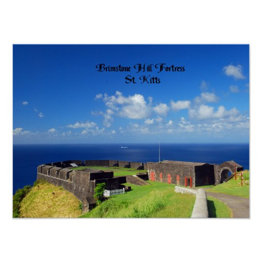 Brimstone Hill Fortress, St. Kitts Poster