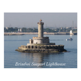 Brindisi Seaport Lighthouse Post Cards