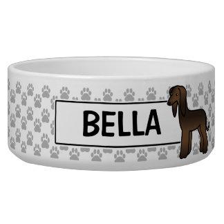 Brindle Afghan Hound Cartoon Dog Bowl