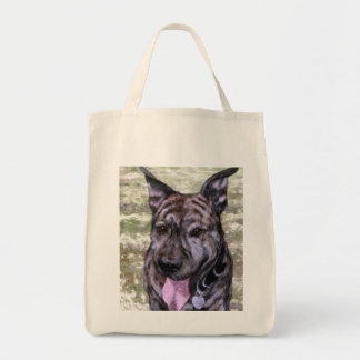 Brindle Amstaff American Staffordshire Terrier Dog Tote Bag