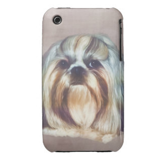 Brindle and White Shih Tzu Dog iPhone 3 Case-Mate Cases