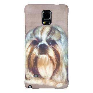 Brindle and White Shih Tzu Dog Galaxy Note 4 Case