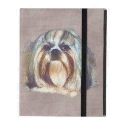 Powis iCase iPad Case with Kickstand with Shih Tzu Phone Cases design