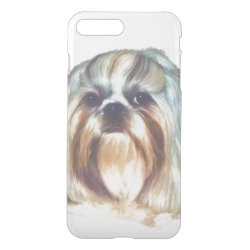 Uncommon iPhone 7 Plus Clearly™ Deflector Case with Shih Tzu Phone Cases design