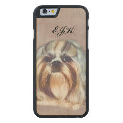 Carved ® iPhone 6 Bumper Wood Case with Shih Tzu Phone Cases design