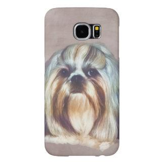 Brindle and White Shih Tzu Dog Samsung Galaxy S6 Case