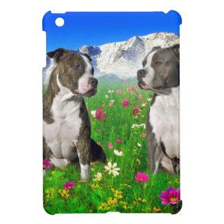 Brindle & Blue Staffordshire & Pit Bull Dogs iPad Mini Cover