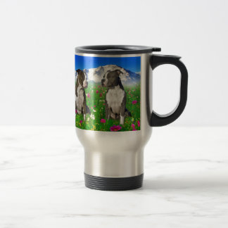 Brindle & Blue Staffordshire & Pit Bull Dogs 15 Oz Stainless Steel Travel Mug
