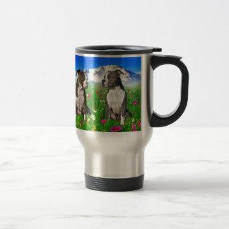 Brindle & Blue Staffordshire & Pit Bull Dogs Travel Mug