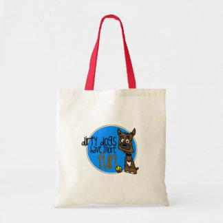 Brindle Boxer -Blue Logo Canvas Bag