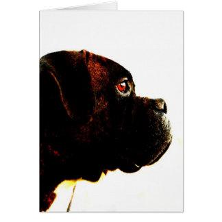 Brindle boxer dog greeting card