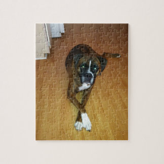 Brindle Boxer Dog Photo Puzzle