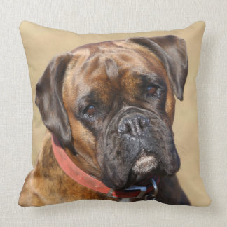 Brindle Boxer Dog Throw Pillow