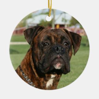 Brindle boxer ornament