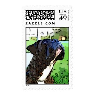 Brindle Boxer postage