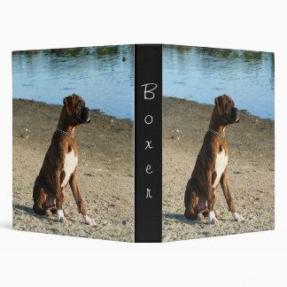 Brindle boxer puppy binder